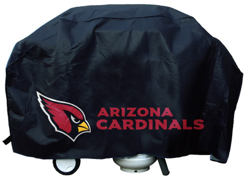 "Show your favorite team and protect your barbeque grill at the same time! The cover is made of .10 mil thick heavy duty vinyl and features your favorite team's logo. Will fit most grills up to 68"" wide, 35"" high and 21"" deep. There is a hook and loop velcro closure at the bottom for a secure fit. Made by Rico. Made By Rico Industries"