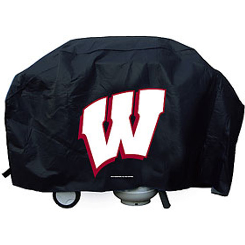 "Show your favorite team and protect your barbeque grill at the same time! The cover is made of .10 mil thick heavy duty vinyl and features your favorite team's logo. Will fit most grills up to 68"" wide, 35"" high and 21"" deep. There is a hook and loop velcro closure at the bottom for a secure fit. Made by Rico."