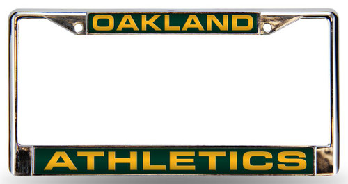 <span>Show the world who your favorite team is with this laser cut chrome license plate frame. Features the team name and logo laser cut into a colored acrylic insert and has pre-drilled holes for easy mounting. The chrome frame is very durable and will last for a long time.&nbsp; Made by Rico Industries.</span>
