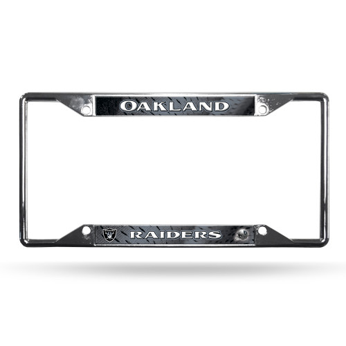 Show everyone who you root for with this chrome license plate frame! Features your favorite team's name and logo, and has pre-drilled holes for easy mounting. The chrome frame is very durable and will last for a long time! They are also a great gift for a fan. Made by Rico.
