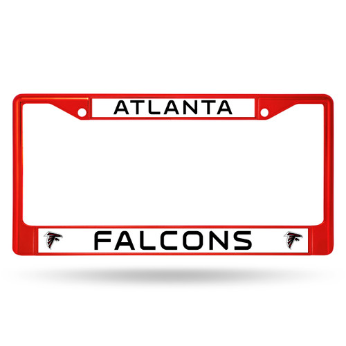 "Let everyone know who you're rooting for with this Color Chrome License Plate Frame from Rico Industries! This frame is officially licensed and easy to mount on just about any license plate. The frame measures at 12"" x 6"" with plastic team inserts at the top and bottom of the frame. It's decorated in vibrant team colors and its Zinc Metal construction makes it resistant to the elements. Made By Rico Industries."