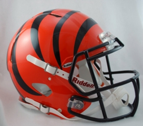 Just like the college players wear. Officially licensed full size authentic helmets. Polycarbonate shell, steel polyvinyl coated quarterback / running back style facemask. The ultimate way to show your school spirit! Made by Riddell.