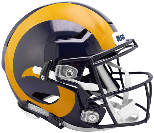 The SpeedFlex helmet has quickly become the most popular helmet of choice by top NFL players. This helmet is the most authentically-inspired collectible. Comes complete with comfort overliner and quick release facemask attachments. The unmistakable look of the SpeedFlex has become the new icon of the game. Made by Riddell.