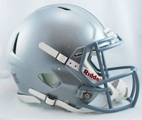 Just like the college players wear. Officially licensed full size authentic helmets. Polycarbonate shell, steel polyvinyl coated quarterback / running back style facemask. The ultimate way to show your school spirit! Made by Riddell
