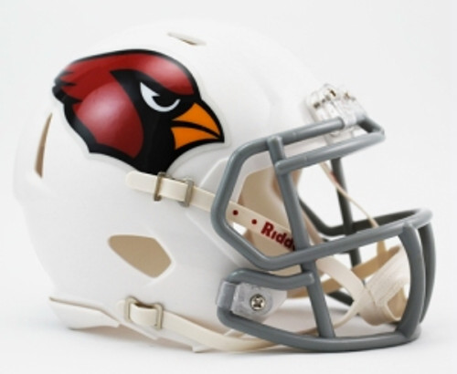 """The Speed Mini Helmet is a half scale replica of one of the most popular new helmet introductions in Riddell's history. It's a must have for the serious collector. Includes interior padding and a 4-point chinstrap. Official colors and decals. Ideal for autographs. Approximately 5"""" tall. Made By Riddell"""