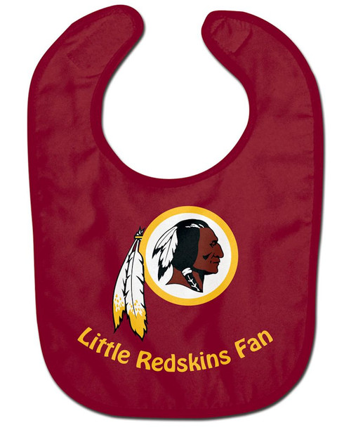 Officially licensed NFL baby bib made of two ply soft polyester front and absorbent cotton terry back. It is decorated with a fun full color imprint. Finished with adjustable baby velcro. Printed in the USA with imported fabric. Made By Wincraft, Inc.