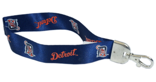 "This sporty and convenient wristlet lanyard holds keys, ticketholders and other important items, right at your fingertips! The NFL lanyard is made of a durable nylon and has a metal lobster clasp. The lanyard is 9"" long and 1"" wide. Made By Pro Specialties Group"