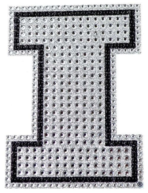 This is a flexible emblem with an adhesive backing for placement on hard surfaces. The emblem incorporates rhinestones and glitter to give an amazing bling look. Approximate 6.25in x 6.25in. Made By Team Promark