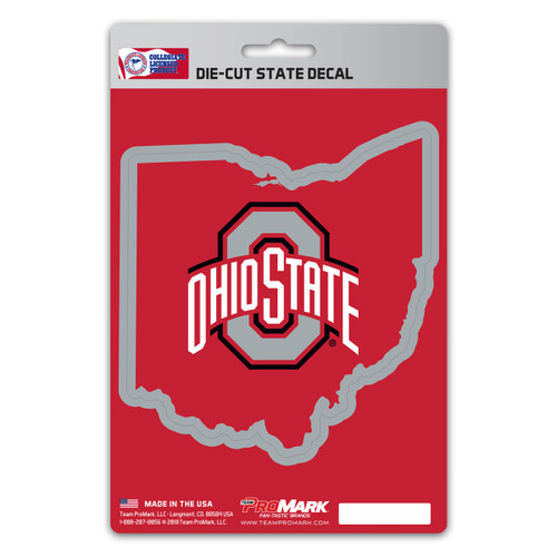 Ohio State Buckeyes Decal State Design