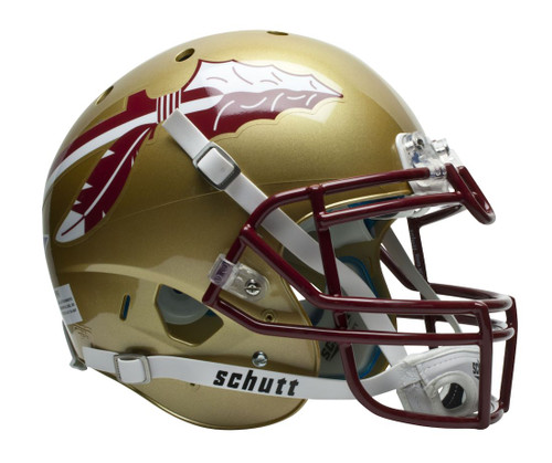 The authentic XP helmets feature a traditional standoff helmet shell with a real metal faceguard. Also features complete interior TPU Cushioning Set complete with TPU Jaw Pads and ION Hard Cup Chin Strap. These helmets are perfect for decoration or autograph collecting. For ornamental use only, and not for play in any sports activity. Made By Schutt Sports