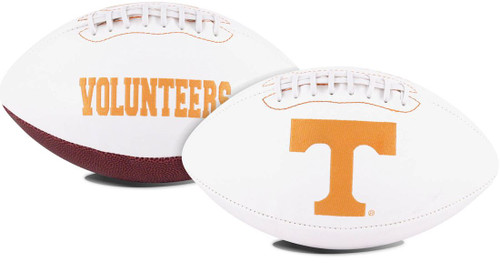 This full size football makes a wonderful collectible piece. They have the school logo embroidered on the front. These are also perfect for autographs. Made By Jarden