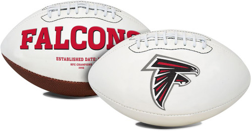 A timeless classic football with timeless appeal. This football features an embroidered primary logo and embossed team history. Packaged with a permanent ink autograph pen makes this football perfect for autograph shows and game day events. This NFL football has three white panels and one synthetic leather panel. This full size football is made by Fotoball. Made By Jarden