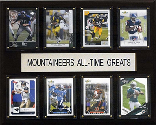 """<span>Eight of the greatest Arkansas Razorbacks stars are featured on this 12""""x15"""" cherry wood plaque. The players are presented on genuine licensed trading cards from different manufacturers making this a perfect piece to display in an office, recreation room, or any spot for a fan to enjoy. The cards are protected by superior high-clarity acrylic lens covers and firmly affixed to the plaque with brass-type screws for a polished look. All cards are easily replaceable with ones from your own collection. This long-lasting piece is proudly produced in the USA.&nbsp;</span>Made by C &amp; I Collectables"""