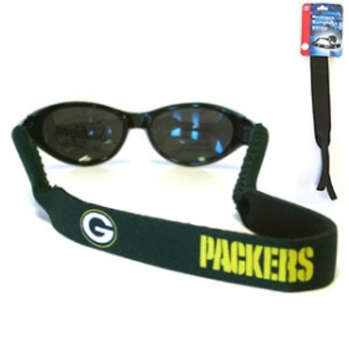 "Straps are adorned in team logos and colors. Sunglasses hang from the 16"" strap with flexible tube openings to fit snuggly over thin to wide styles. Made By Siskiyou"