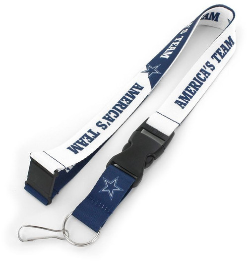 """You know your favorite team's slogan so make sure everyone else know its with this slogan lanyard? Each nylon lanyard measures approximately 22"""" in length and is decorated with vibrant sublimated team colored graphics and team slogan. It features a breakaway tab and quick release buckle, ideal for car keys, ID badges and more.? 100% Nylon. Officially licensed."""