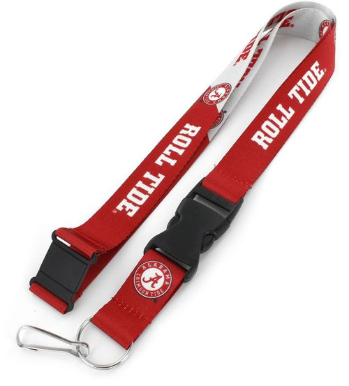 "You know your favorite team's slogan so make sure everyone else know its with this slogan lanyard. Each nylon lanyard measures approximately 22"" in length and is decorated with vibrant sublimated team colored graphics and team slogan. It features a breakaway tab and quick release buckle, ideal for car keys, ID badges and more. 100% Nylon. Officially licensed. Made by Aminco."