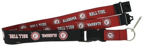 "Reversible sides in contrasting team colors. Officially licensed team logo. Made of durable nylon. Measuring approximately 24"" long. Features a detachable key-ring and clip. Made by Aminco."