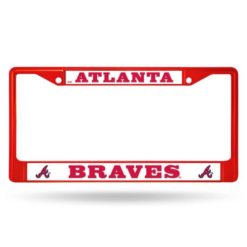 Atlanta Braves License Plate Frame Metal