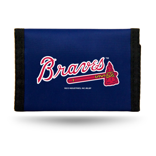 "This officially licensed durable nylon wallet features vibrant team colors and logos. It has a compartment for money, three sewn in pockets and a plastic photo/credit card holder. The velcro closure keeps everything securely inside. Measures approximately 5""x3"" in size. Made By Rico Industries."