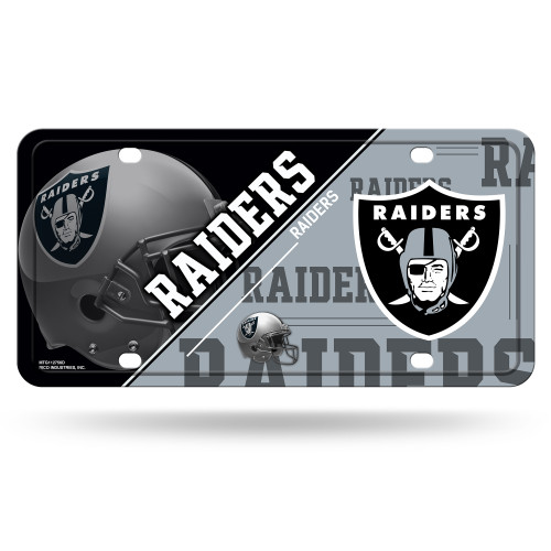 """New """"Split Design"""" Aluminum License Plate is standard size of 6""""x12"""", fits all standard vehicles. Is scratch resistant and officially licensed. Made by Rico Industries."""