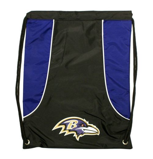 "This high density backsack features your favorite team's screenprinted logo and team colors. It is made of a durable water resistant 210D nylon, has extra strength cording and reinforced strap corners. The bag is approximately 18""x13.5"" in size. Made by Concept One Acessories"