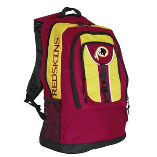 """This officially licensed durable 600D poly back pack is approximately 20"""" in height by 13"""" wide and 6"""" deep. It features an embroidered main logo, printed team wordmark, reflective piping, a mesh cellphone pocket on the backstrap, and an audio pocket and cord port. The back pack also has a laptop compartment and an interior organizer. Made By Concept One Accessories"""