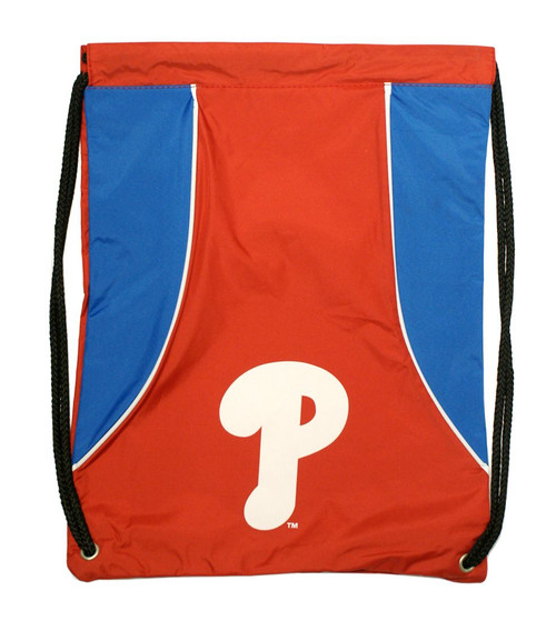 """This high density backsack features your favorite team's screenprinted logo and team colors. It is made of a durable water resistant 210D nylon, has extra strength cording and reinforced strap corners. The bag is approximately 18""""x13.5"""" in size. Made by Concept One Acessories"""
