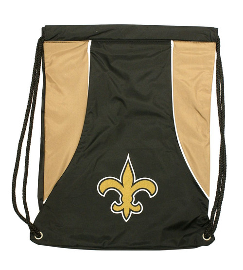 """This high density backsack features your favorite NFL teams screenprinted logo and team colors. It is made of a durable water resistant 210D nylon, has extra strength cording and reinforced strap corners. The bag is approximately 18""""x13.5"""" in size. Made by Concept One Acessories. Made By Concept One Accessories"""