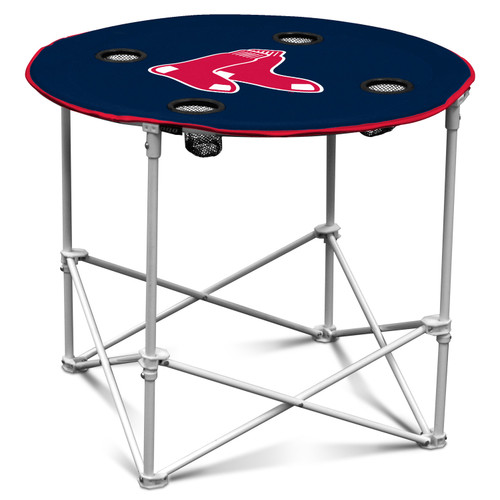 This portable Round Table is made of 600 denier polyester and measures 30 inches in diameter by 24 inches tall. It folds up easily for storage and transportation. Featuring a screen printed logo and four cup holders. Fans can enjoy the team spirit and their favorite snacks together with the convenient Round Table. Made By Logo Chair, Inc