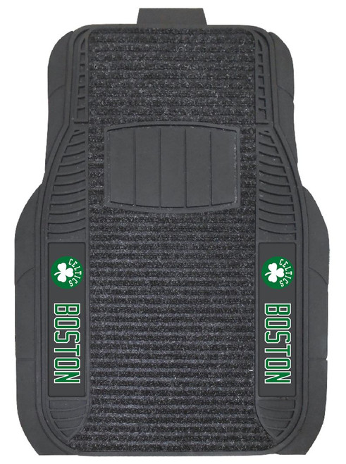 Protect your vehicles flooring while showing your team pride with car mats by FANMATS. The Vinyl and Dual Ribbed Charcoal Carpet construction with non-skid backing ensures a rugged and safe product. The universal fit makes it ideal for cars, trucks, SUVs, and RVs. The officially licensed design in true team colors is permanently molded for longevity. Approximately 20 inches x 27 inches in size and made from 100% recycled material. Made By Fanmats.