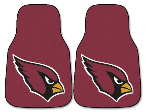 Protect your vehicle's flooring while showing your team pride with car mats by FANMATS. 100% nylon face with non-skid vinyl backing.  Universal fit makes it ideal for cars, trucks, SUVs, and RVs. The officially licensed mat is chromojet printed in true team colors and designed with a large team logo. Two mats per set. Made in USA. Made By Fanmats
