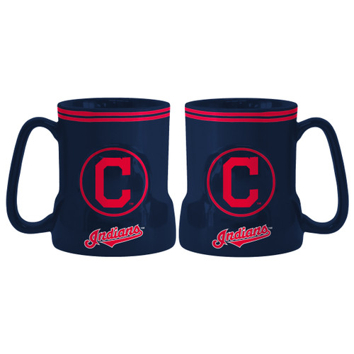 """The sculpted game time coffee mug is decorated with your team's bright and colorful graphics. The team logo and name are on both sides, and the logo is slightly raised. Made of ceramic. It holds 18 ounces of fluid and is microwave and dishwasher safe. Approximately 4.5"""" tall and 4"""" wide at the bottom. Made By Boelter Brands"""