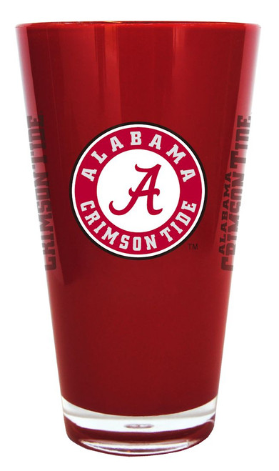 The 20 ounce double-walled, insulated plastic pint glass is BPA free, reusable and highly durable. It's decorated with colorful team graphics. Made By Boelter Brands.