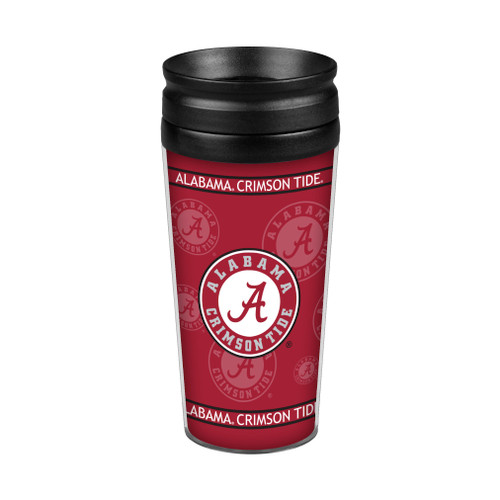 14oz. double-walled, plastic travel tumbler with full wrap graphics on paper insert. Screw on Lid. BPA Free. Made By Boelter Brands