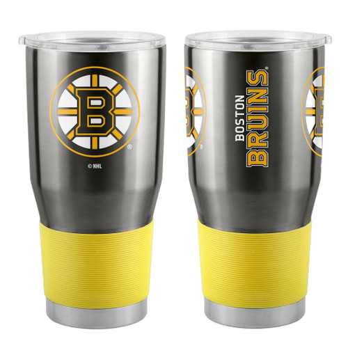 A 30 oz ultra tumbler with 18/8 stainless steel body with double-wall, vacuum insulated construction and slider top lid. Decorated with colorful team logo. Actual color may vary. Made by Boelter Brands
