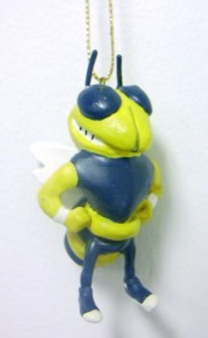 """These multi purpose mascot figurines can be used for many different things: Christmas tree ornament, decoration for your desk or rear view mirror, or for an art/craft project. the possibilities are endless! They are made of a poly resin type of material. Approximately 3"""" long."""