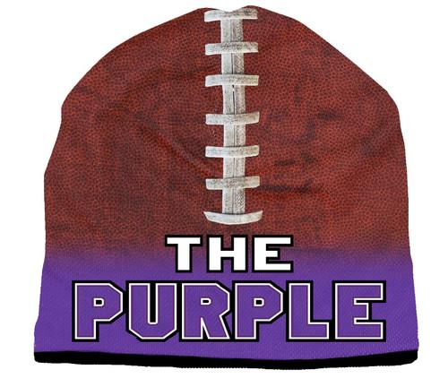 Beanie The Purple Sublimated Football