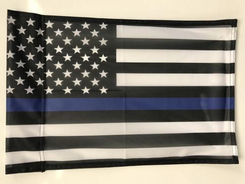 USA Blue Line Flag 12x18 Garden Style Design