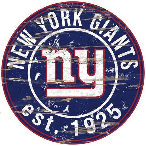 New York Giants Sign Wood 24 Inch Round Special Order