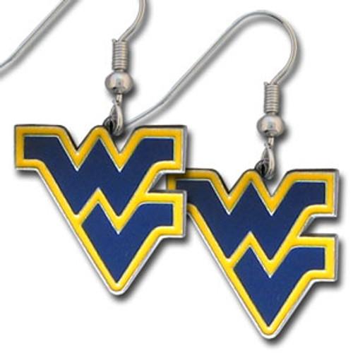 West Virginia Mountaineers Earrings Dangle Style Special Order