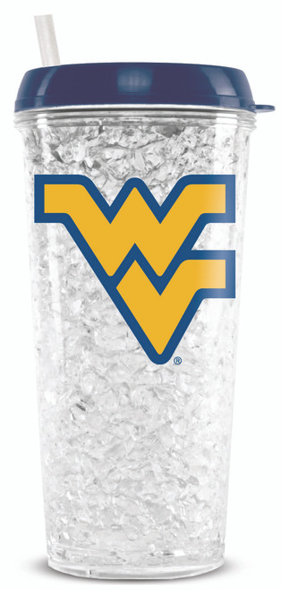 West Virginia Mountaineers Tumbler Crystal Freezer Style Special Order