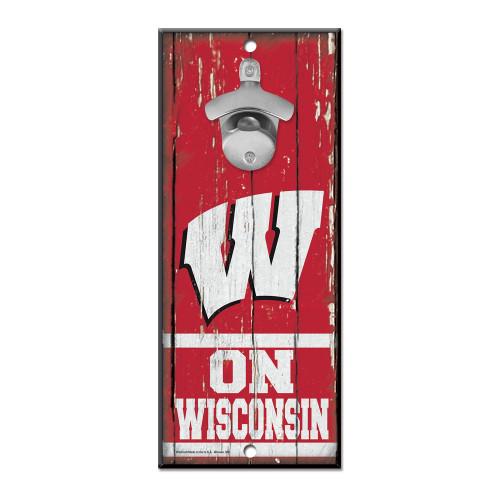 Wisconsin Badgers Sign Wood 5x11 Bottle Opener Special Order