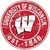 Wisconsin Badgers Sign Wood 24 Inch Round Special Order