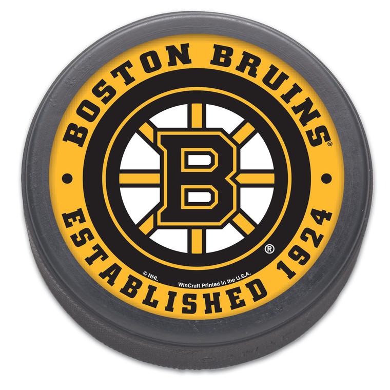 Boston Bruins Hockey Puck Packaged Est 1924 Design