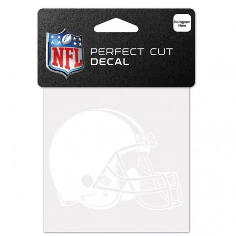 Cleveland Browns Decal 4x4 Perfect Cut White Special Order