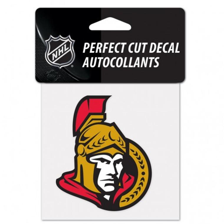 Ottawa Senators Decal 4x4 Perfect Cut Color