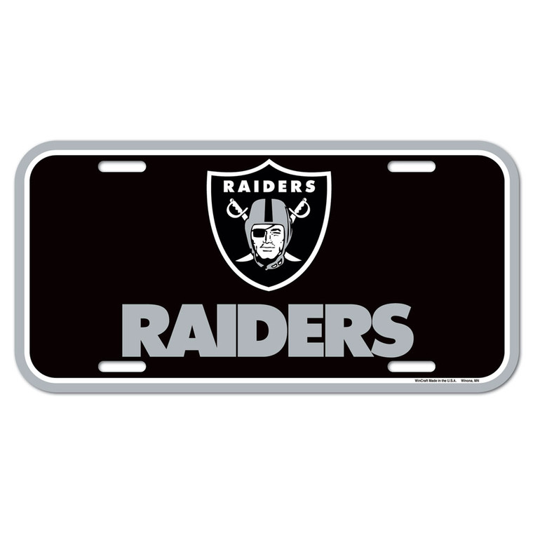 """Officially licensed 6""""x12"""" License Plates made of durable plastic. The plate is a great souvenir decorator piece. Made in USA. Made by Wincraft, Inc"""