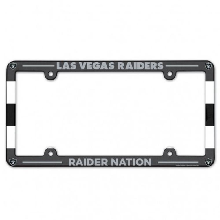 Las Vegas Raiders License Plate Frame Plastic Full Color Style