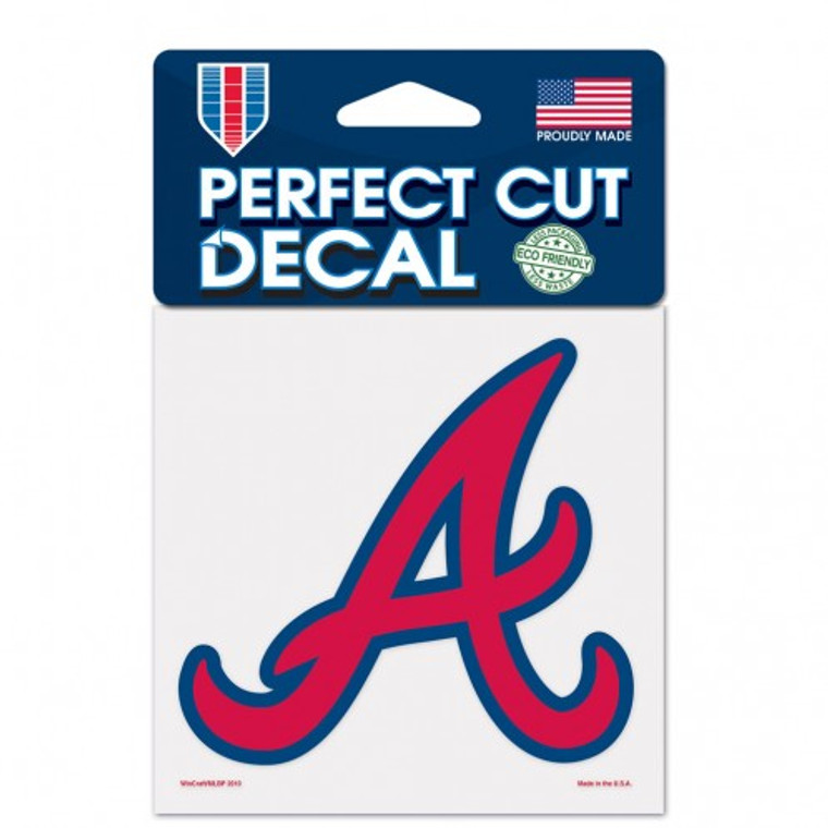 Atlanta Braves Decal 4x4 Perfect Cut Color