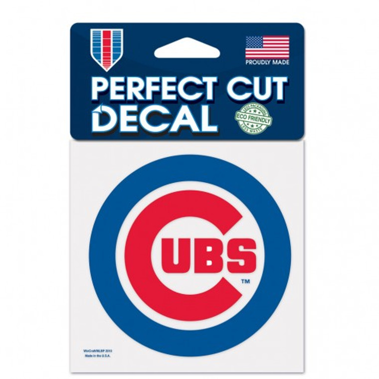 Chicago Cubs Decal 4x4 Perfect Cut Color
